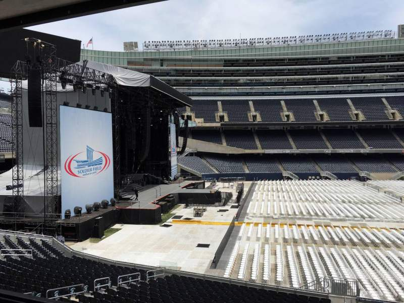 Seating view for Soldier Field Section 242 Row 3 Seat 10