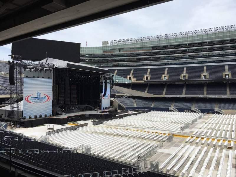Seating view for Soldier Field Section 239 Row 3 Seat 8