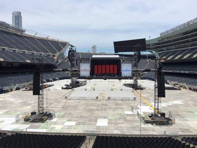 Seating view for Soldier Field Section 222 Row 5 Seat 9