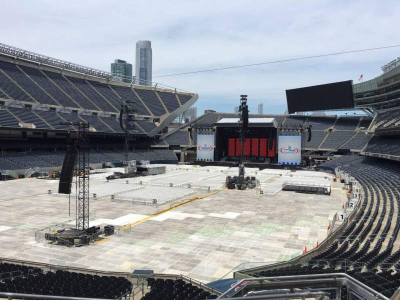 Seating view for Soldier Field Section 219 Row 5 Seat 12