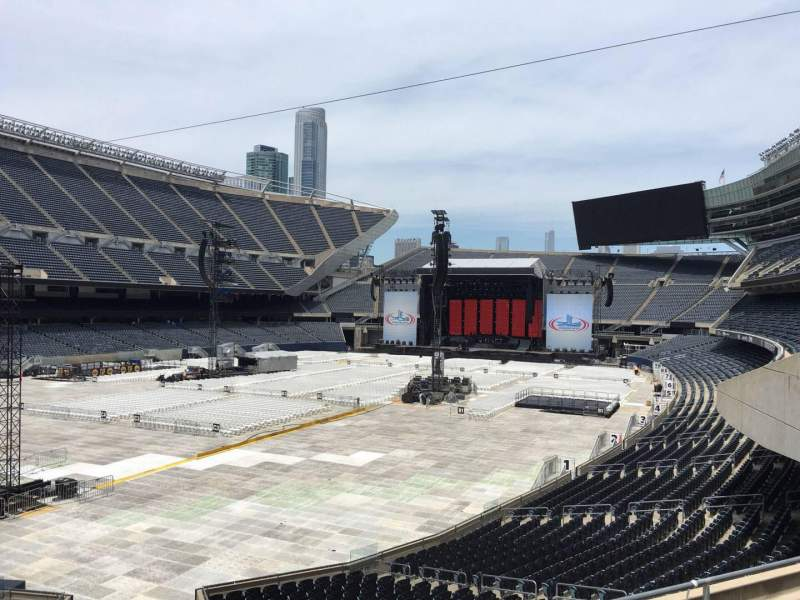 Seating view for Soldier Field Section 218 Row 5 Seat 13