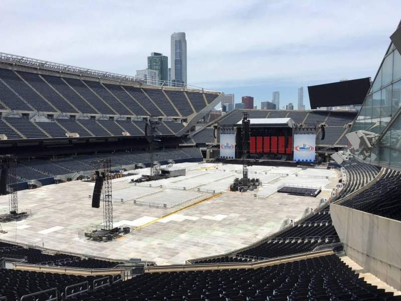 Soldier Field, section 318, row 3, seat 10, shared by frank