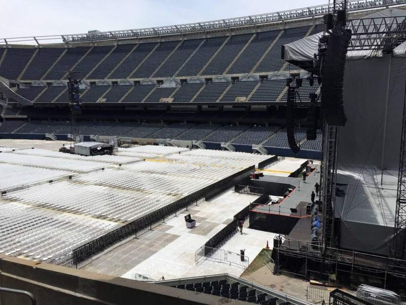 Seating view for Soldier Field Section 202 Row 12 Seat 1