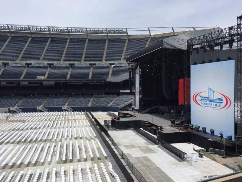 Seating view for Soldier Field Section 205 Row 4 Seat 9