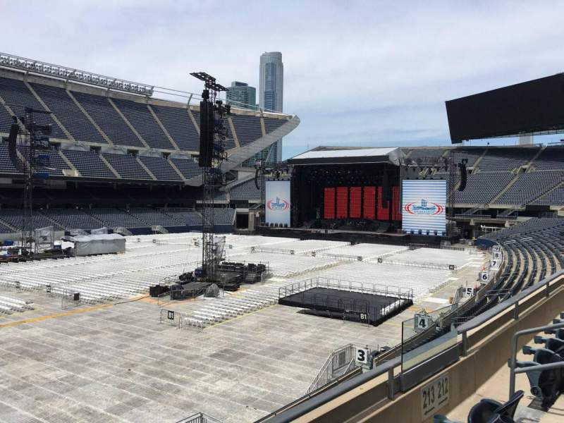 Soldier Field, section: 213, row: 3, seat: 10
