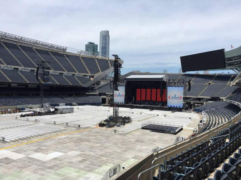 Seating view for Soldier Field Section 215 Row 3 Seat 18