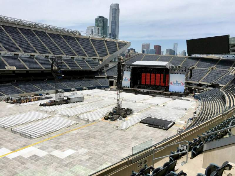 Seating view for Soldier Field Section 315 Row 7 Seat 7