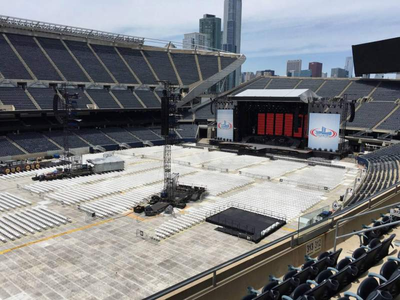 Seating view for Soldier Field Section 313 Row 5 Seat 6