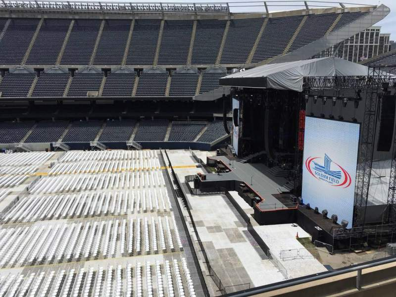 Seating view for Soldier Field Section 305 Row 4 Seat 7