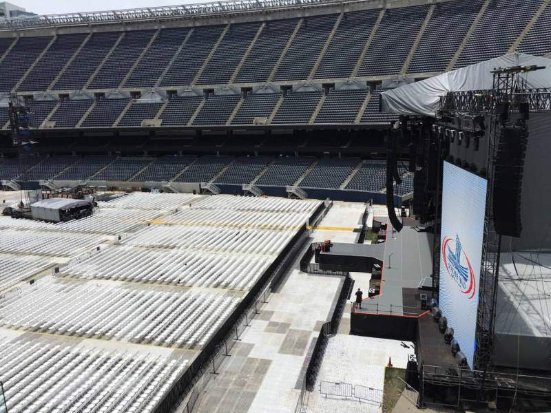 Seating view for Soldier Field Section 303 Row 4 Seat 4