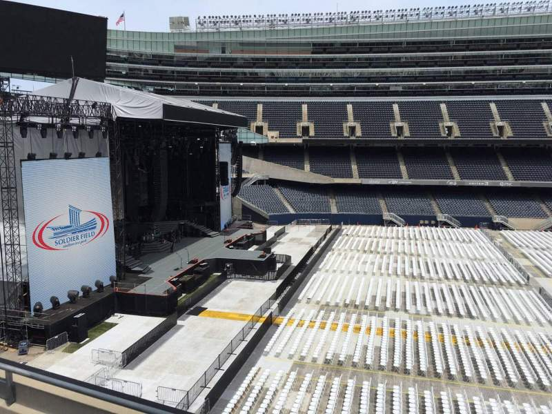 Seating view for Soldier Field Section 341 Row 3 Seat 7