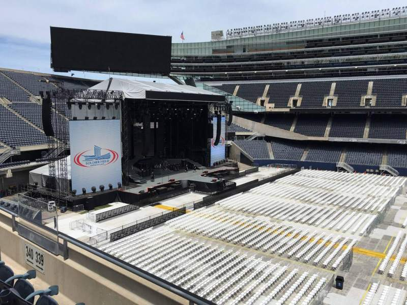 Seating view for Soldier Field Section 339 Row 3 Seat 9