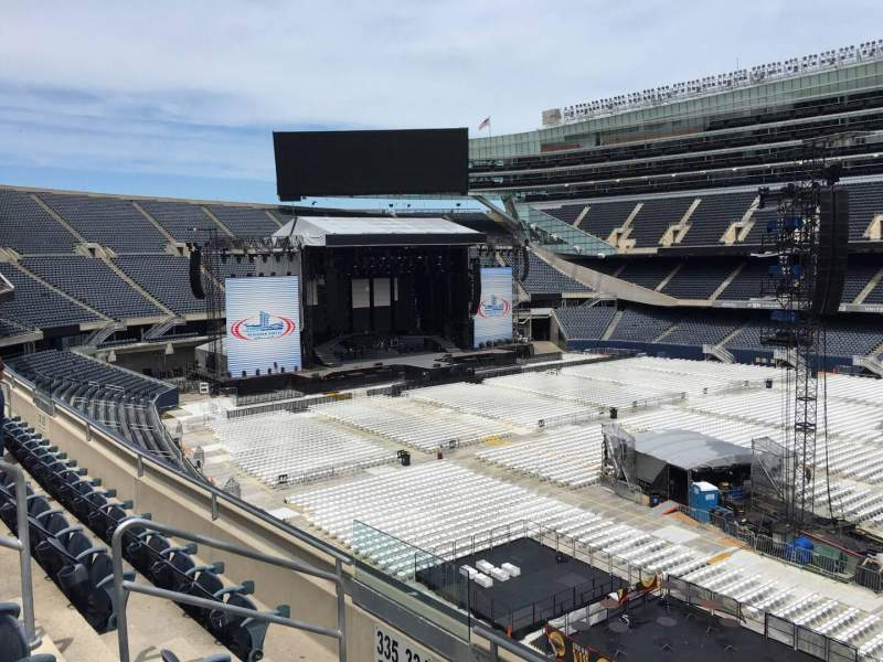 Seating view for Soldier Field Section 334 Row 4 Seat 7