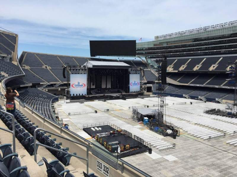 Seating view for Soldier Field Section 332 Row 3 Seat 8