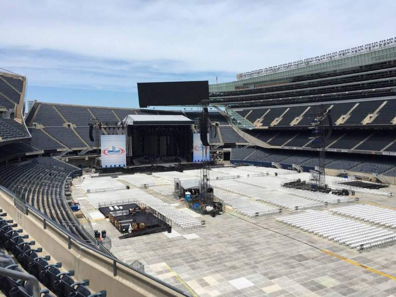 Seating view for Soldier Field Section 330 Row 4 Seat 4