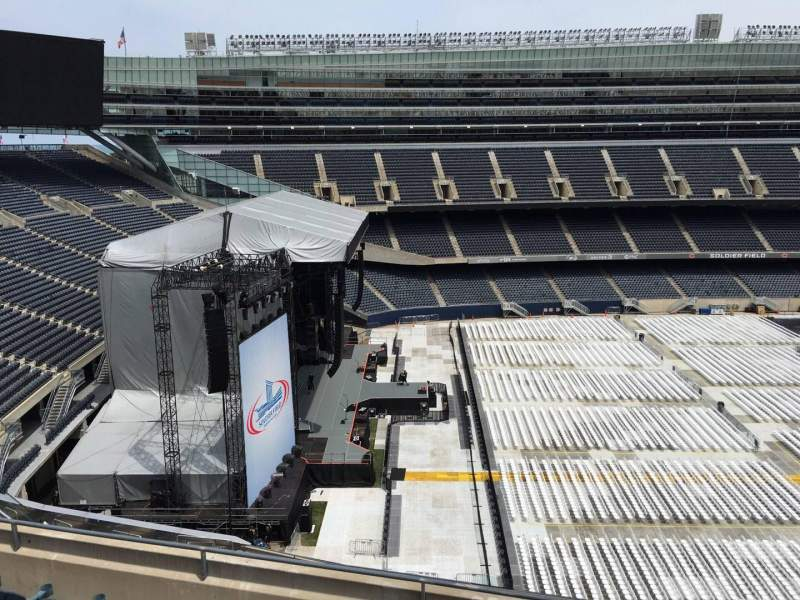 Seating view for Soldier Field Section 442 Row 6 Seat 15