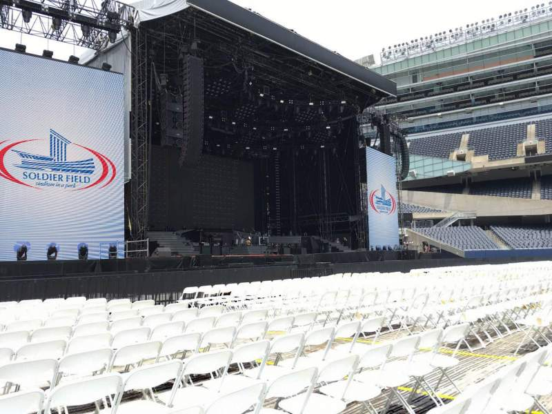 Seating view for Soldier Field Section A6 Row 13 Seat 12