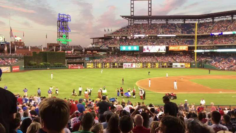 Seating view for Citizens Bank Park Section 133 Row 34 Seat 11