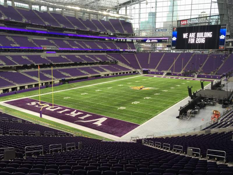 Seating view for U.S. Bank Stadium Section 116 Row 14 Seat 14