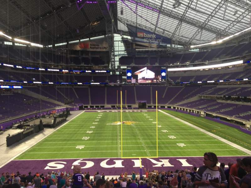 Seating view for U.S. Bank Stadium Section 142 Row 32 Seat 8