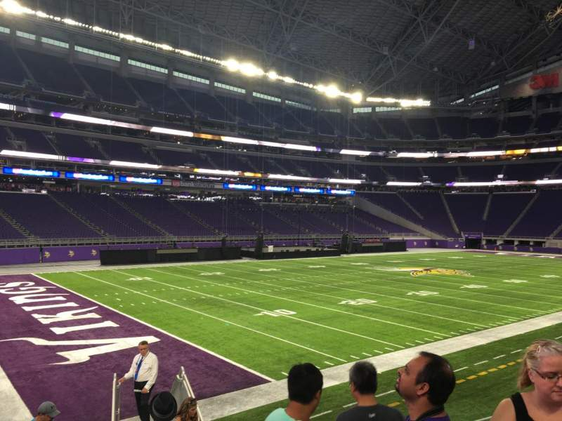 Seating view for U.S. Bank Stadium Section 136 Row 12 Seat 5