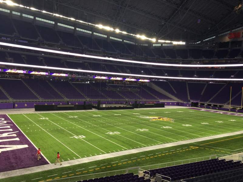 Seating view for U.S. Bank Stadium Section 135 Row 1 Seat 9