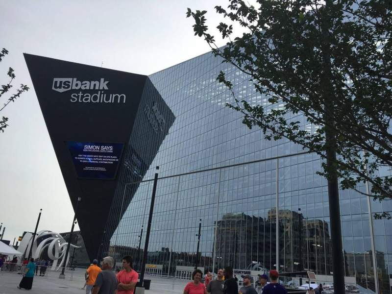 Seating view for U.S. Bank Stadium Section Outside