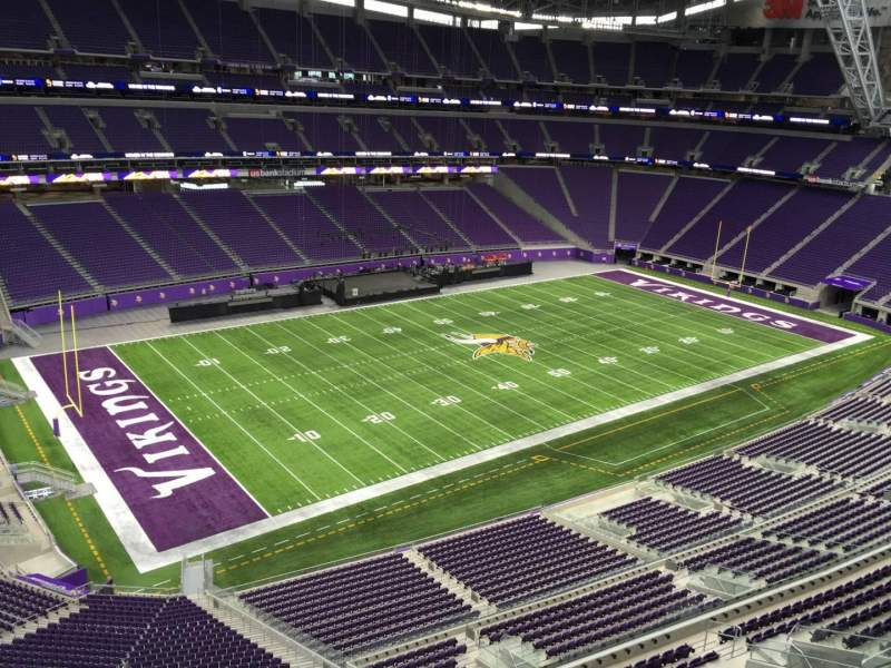 Seating view for U.S. Bank Stadium Section 347 Row B Seat 15
