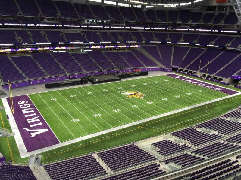 Seating view for U.S. Bank Stadium Section 346 Row B Seat 2