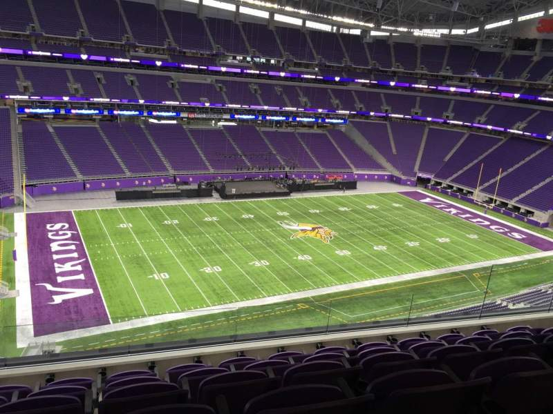 Seating view for U.S. Bank Stadium Section 345 Row E Seat 11
