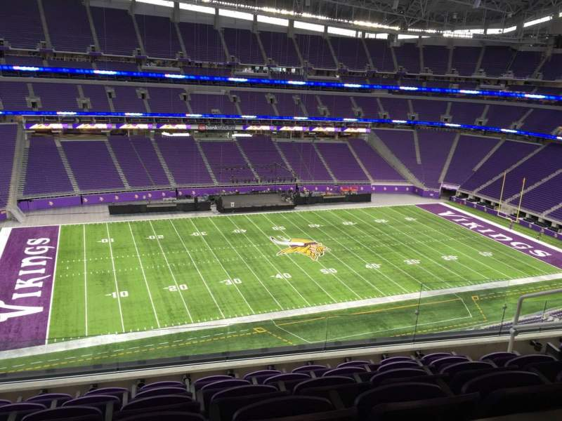 Seating view for U.S. Bank Stadium Section 344 Row Acc