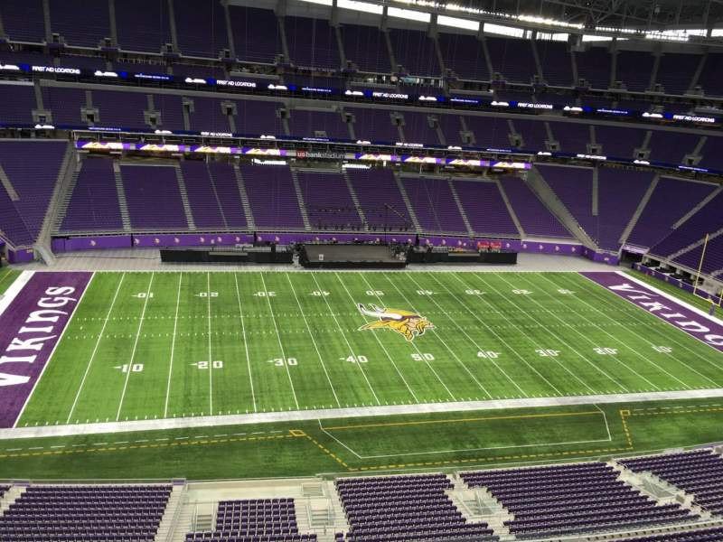 Seating view for U.S. Bank Stadium Section 343 Row B Seat 11