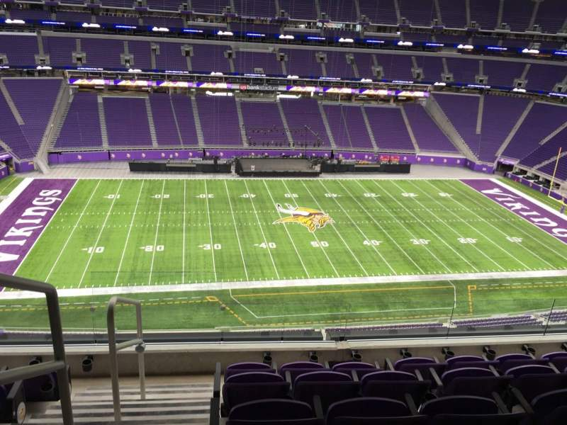 Seating view for U.S. Bank Stadium Section 342 Row E Seat 25