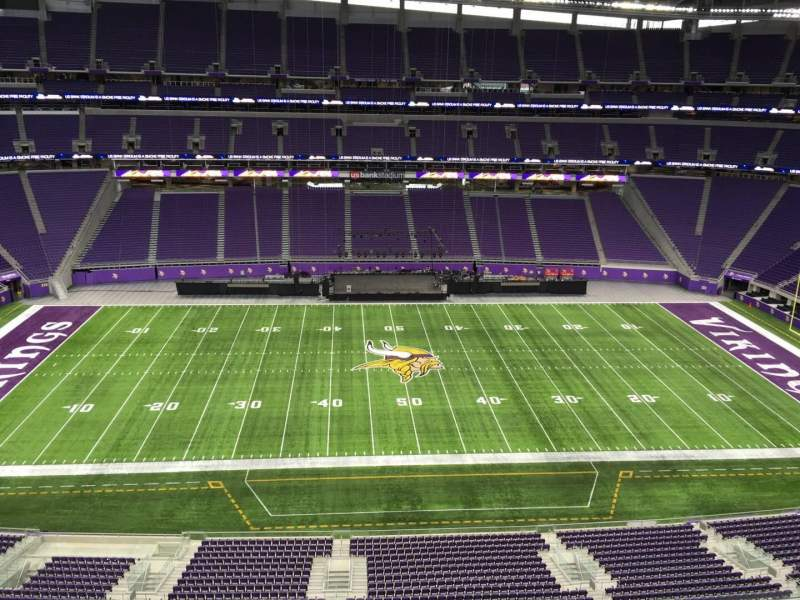 Seating view for U.S. Bank Stadium Section 341 Row B Seat 33