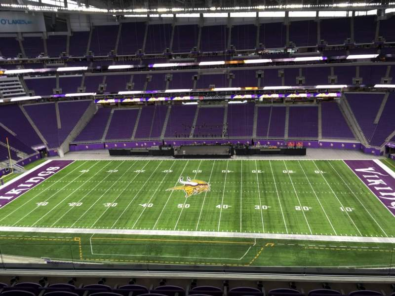 Seating view for U.S. Bank Stadium Section 340 Row E Seat 21