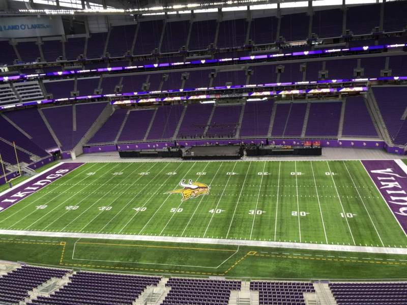 Seating view for U.S. Bank Stadium Section 339 Row B Seat 20