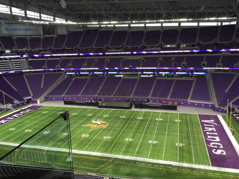 Seating view for U.S. Bank Stadium Section 338 Row D Seat 20