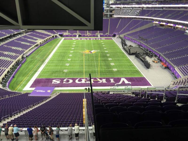Seating view for U.S. Bank Stadium Section 223 Row 18 Seat 6