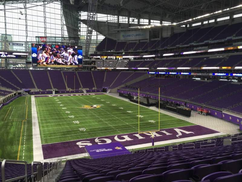 Seating view for U.S. Bank Stadium Section 121 Row 42 Seat 40