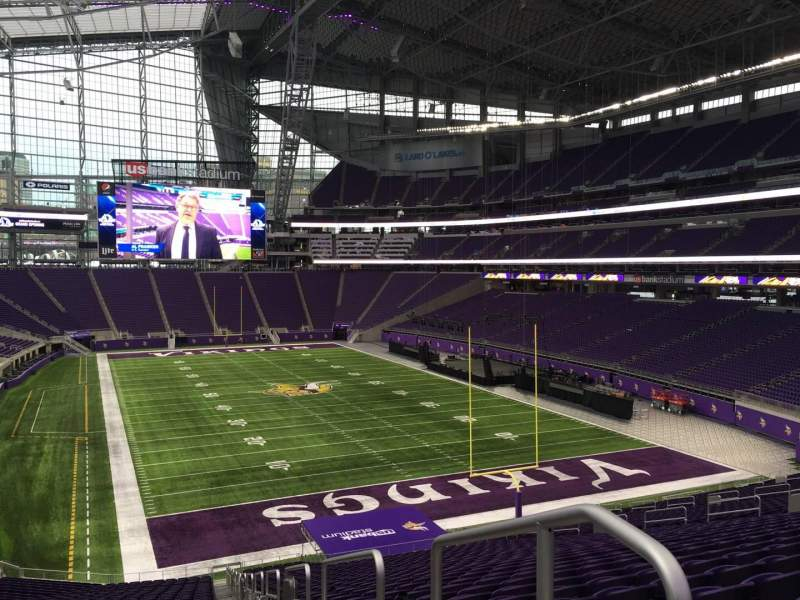 Seating view for U.S. Bank Stadium Section 121 Row 41 Seat 1