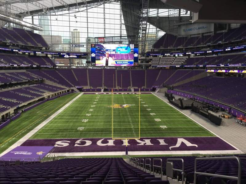 Seating view for U.S. Bank Stadium Section 120 Row 42 Seat 3
