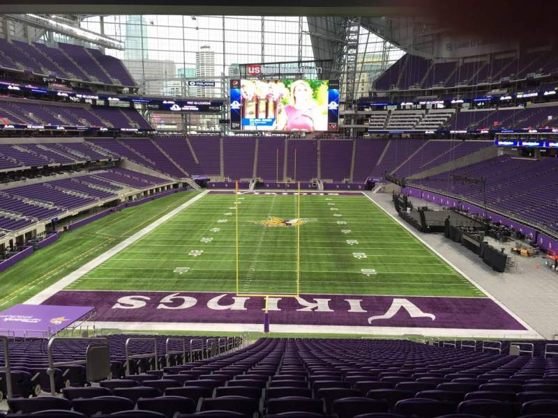Seating view for U.S. Bank Stadium Section 119 Row 42 Seat 35