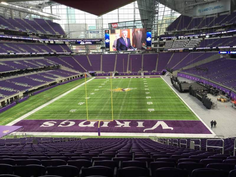 Seating view for U.S. Bank Stadium Section 119 Row 42 Seat 6