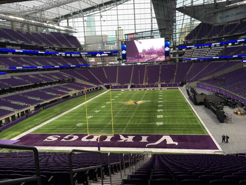 Seating view for U.S. Bank Stadium Section 118 Row 42 Seat 26