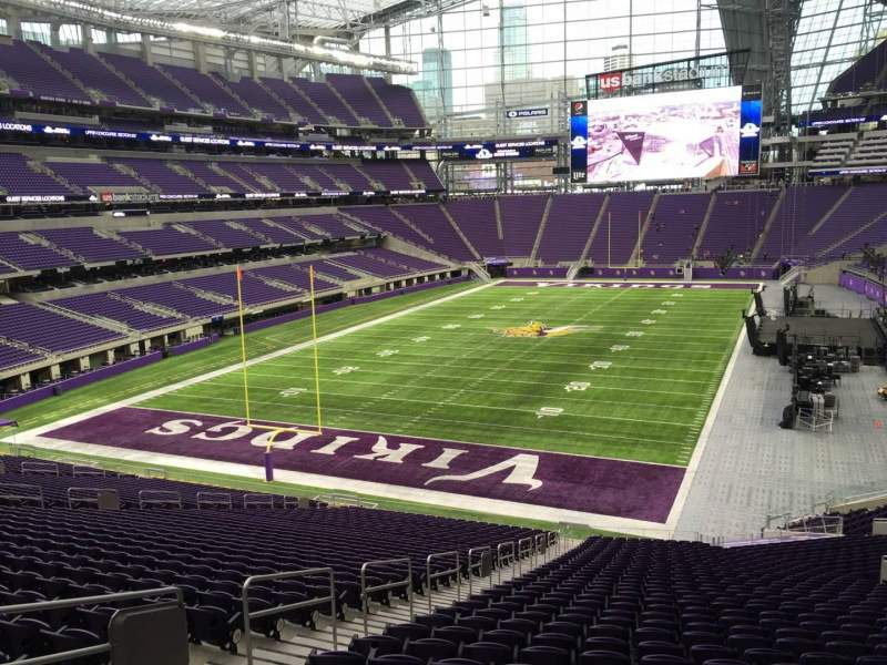 Seating view for U.S. Bank Stadium Section 116 Row 39 Seat 49