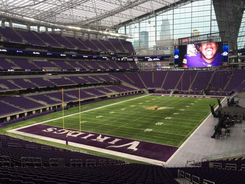 Seating view for U.S. Bank Stadium Section 116 Row 39 Seat 3