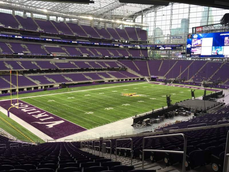Seating view for U.S. Bank Stadium Section 114 Row 41 Seat 2