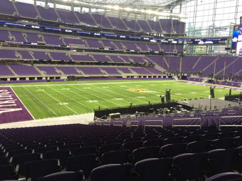 Seating view for U.S. Bank Stadium Section 113 Row 37 Seat 11