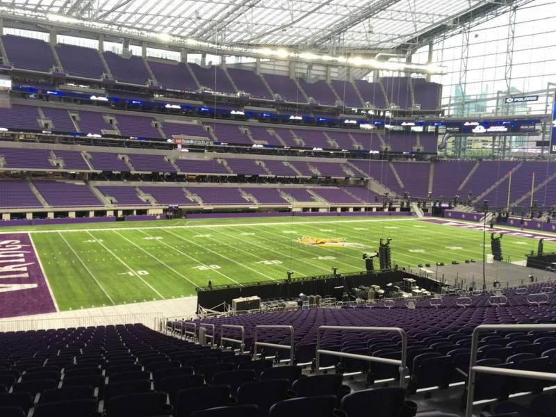 Seating view for U.S. Bank Stadium Section 113 Row 37 Seat 4