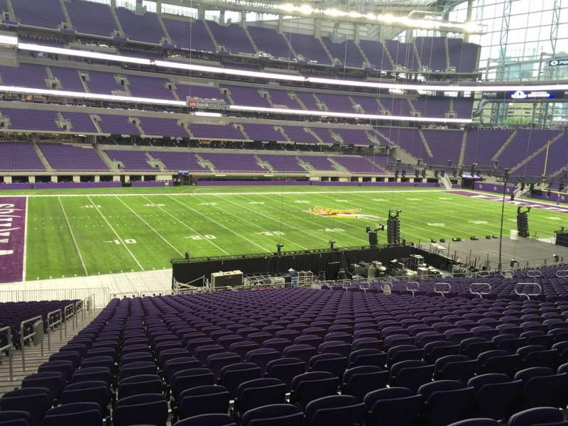 Seating view for U.S. Bank Stadium Section 112 Row 34 Seat 25